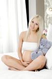 Muchacha embarazada Fotografía de archivo libre de regalías