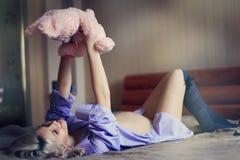 Muchacha embarazada Imagen de archivo
