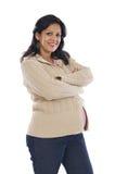 Muchacha embarazada atractiva Foto de archivo libre de regalías
