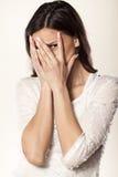 Muchacha Embarrassed Imagen de archivo libre de regalías