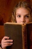 Muchacha emocionada de la escuela Imágenes de archivo libres de regalías