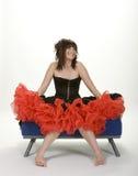 Muchacha emocionada del baile de fin de curso Imagen de archivo libre de regalías
