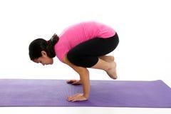 Muchacha en actitud de la yoga Foto de archivo