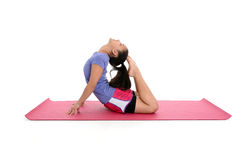 Muchacha en actitud de la yoga Imagenes de archivo