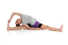 Muchacha en actitud de la yoga Fotografía de archivo