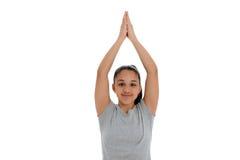 Muchacha en actitud de la yoga Fotos de archivo libres de regalías
