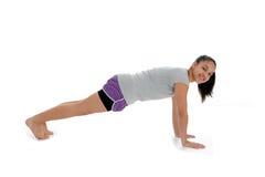 Muchacha en actitud de la yoga Imagen de archivo
