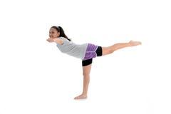 Muchacha en actitud de la yoga Fotos de archivo