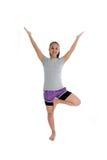 Muchacha en actitud de la yoga Foto de archivo libre de regalías