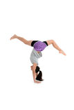Muchacha en actitud de la yoga Imagen de archivo libre de regalías