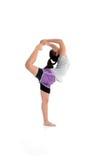 Muchacha en actitud de la yoga Fotografía de archivo libre de regalías