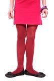 Muchacha en alineada rosada Foto de archivo