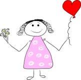 Muchacha en amor Stock de ilustración