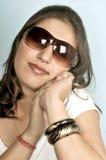 Muchacha en anteojos Foto de archivo libre de regalías