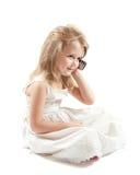 Muchacha en blanco Imágenes de archivo libres de regalías