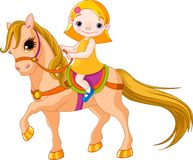 Muchacha en caballo