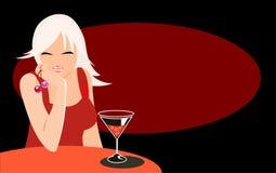Muchacha en café Imagenes de archivo