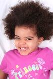 Muchacha en camisa rosada Imagenes de archivo
