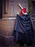 Muchacha en cepillos Foto de archivo libre de regalías