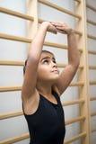 Muchacha en clase del ballet imágenes de archivo libres de regalías