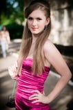 Girl in pink Imagenes de archivo
