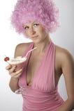 Muchacha en color de rosa Fotos de archivo libres de regalías