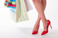 Muchacha en compras Foto de archivo libre de regalías