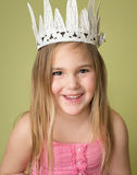 Muchacha en corona, princesa Imagenes de archivo