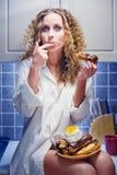 Muchacha en dieta Foto de archivo