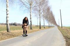 Muchacha en el camino Imagen de archivo