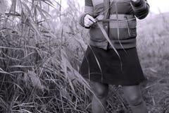 Muchacha en el campo Imagen de archivo