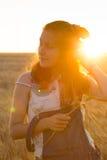 Muchacha en el campo Foto de archivo