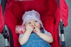 Muchacha en el carro Imagenes de archivo