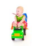 Muchacha en el coche imagen de archivo libre de regalías