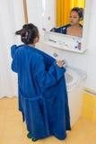 Muchacha en el cuarto de baño Imagen de archivo libre de regalías