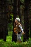 Muchacha en el forestÑ… Foto de archivo