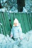 muchacha en el invierno Imágenes de archivo libres de regalías