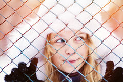 Muchacha en el invierno Adolescente al aire libre Fotografía de archivo libre de regalías