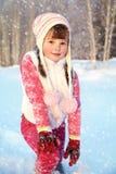 Muchacha en el invierno Niño al aire libre Fotos de archivo libres de regalías