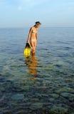 Muchacha en el mar Fotografía de archivo libre de regalías