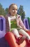 Muchacha en el patio Foto de archivo libre de regalías