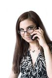 Muchacha en el teléfono imagen de archivo