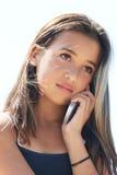 Muchacha en el teléfono Foto de archivo