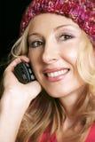 Muchacha en el teléfono Foto de archivo libre de regalías