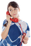 Muchacha en el teléfono Fotos de archivo libres de regalías