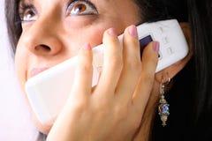 Muchacha en el teléfono imágenes de archivo libres de regalías