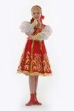 Muchacha en el traje ruso Foto de archivo