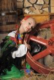 Muchacha en el traje ruso Fotografía de archivo libre de regalías