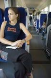 Muchacha en el tren #8 foto de archivo libre de regalías