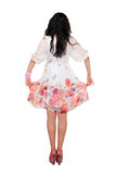 Muchacha en el vestido aislado en blanco Fotografía de archivo libre de regalías
